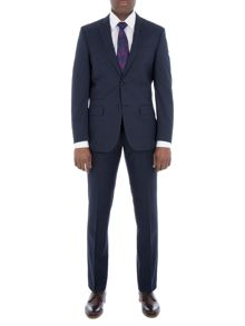 Alexandre of England Pepys Navy Micro Check Suit