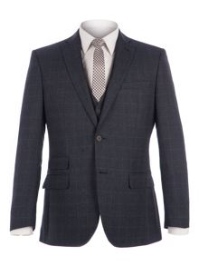 Racing Green Fratton Navy Charcoal Jaspe Check Suit
