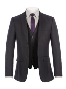 Racing Green Bramley Charcoal Pick & Pick Suit