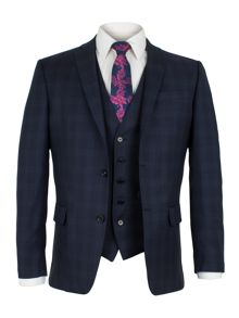 Alexandre of England Walbrook Navy Check Suit