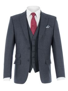 Alexandre of England Coleman Navy Jaspe Check Suit