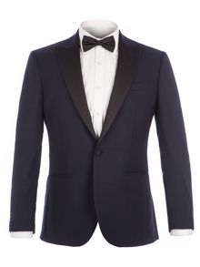 Alexandre of England Bouverie Navy Textured Dresswear Suit