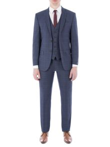 Alexandre of England Cornhill Navy Check Suit
