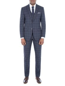 Racing Green Amport Navy Check Suit
