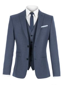 Limehaus Brightwell Blue Check Slim Fit suit