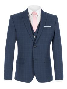 Limehaus Faraday Blue Check Slim Fit Suit