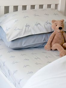 Harriet Hare Running Hare bed linen range