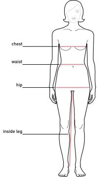 women body measurements chart