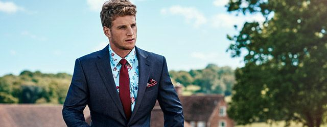 New & Lingwood suit and floral shirt