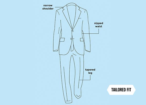 House of Fraser slim fit suit illustration