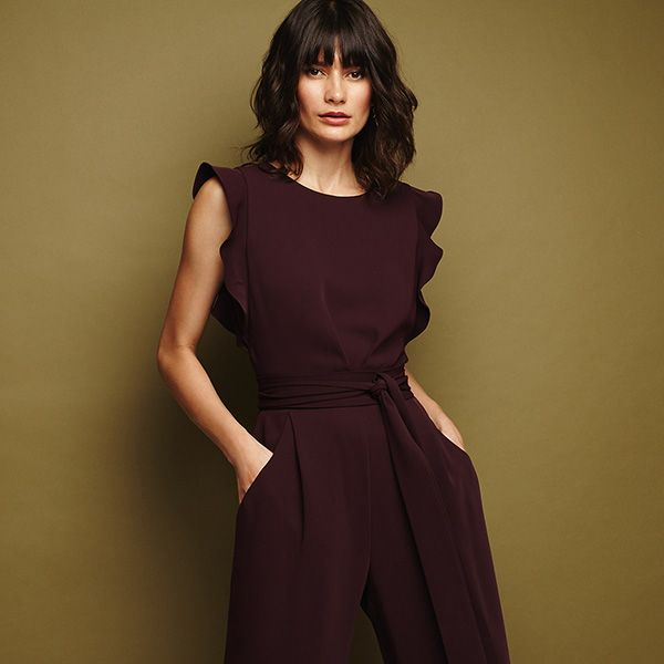 Phase Eight burgundy jumpsuit