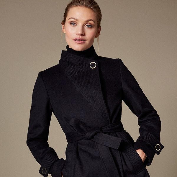 Black Karen Millen coat