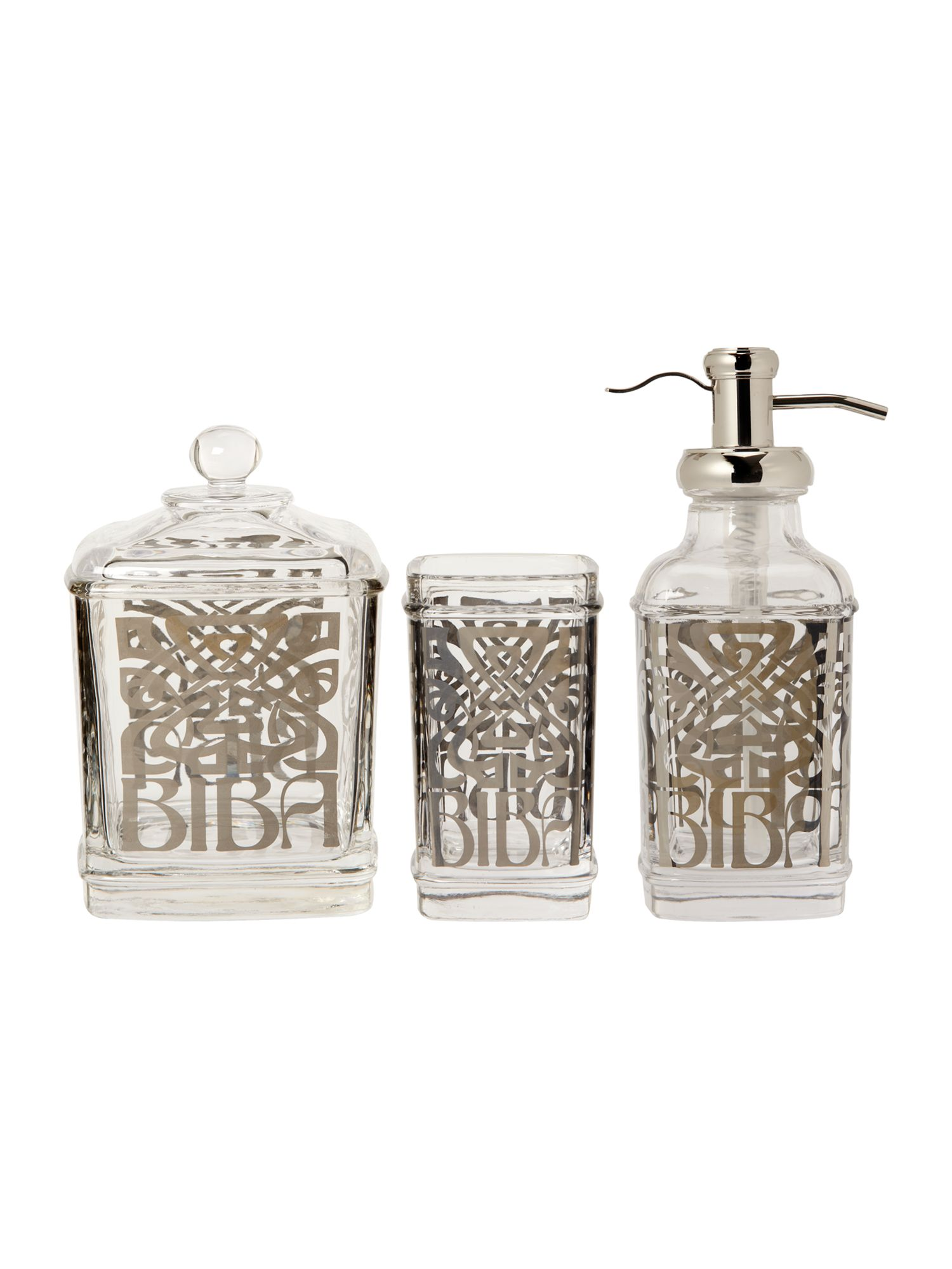 glass bathroom accessories sets.  Biba Glass Bath Accessories House of Fraser