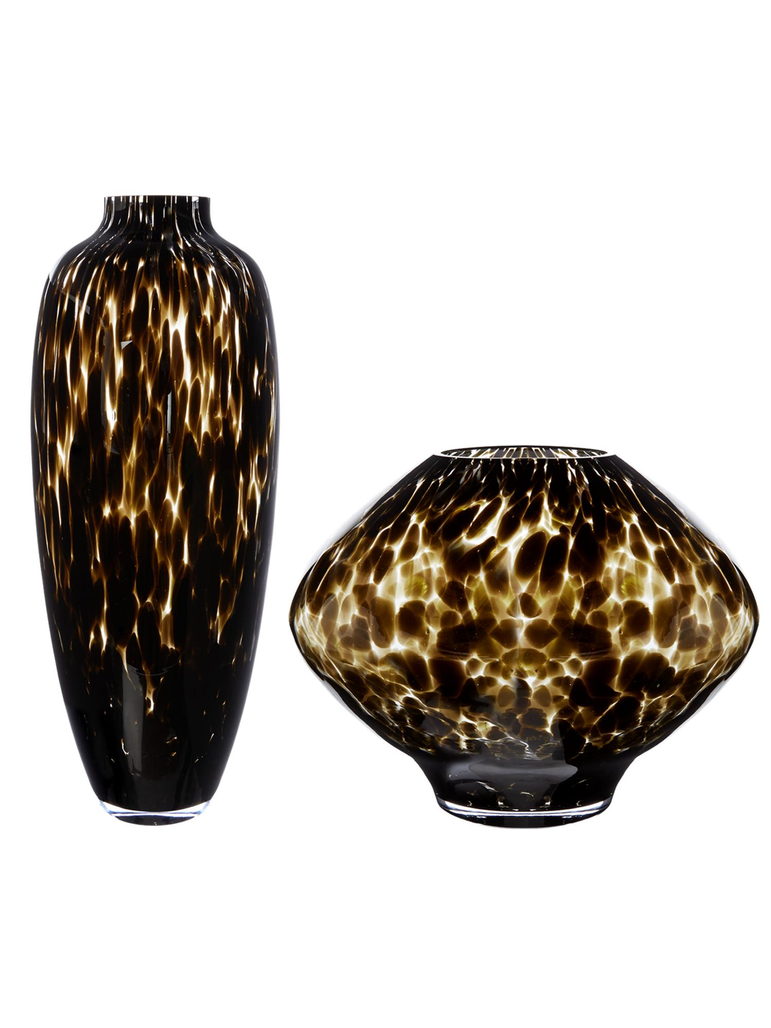 Bright vases trays dishes aroma lamps mirrors in beautiful frames - Biba Leopard Vases Range