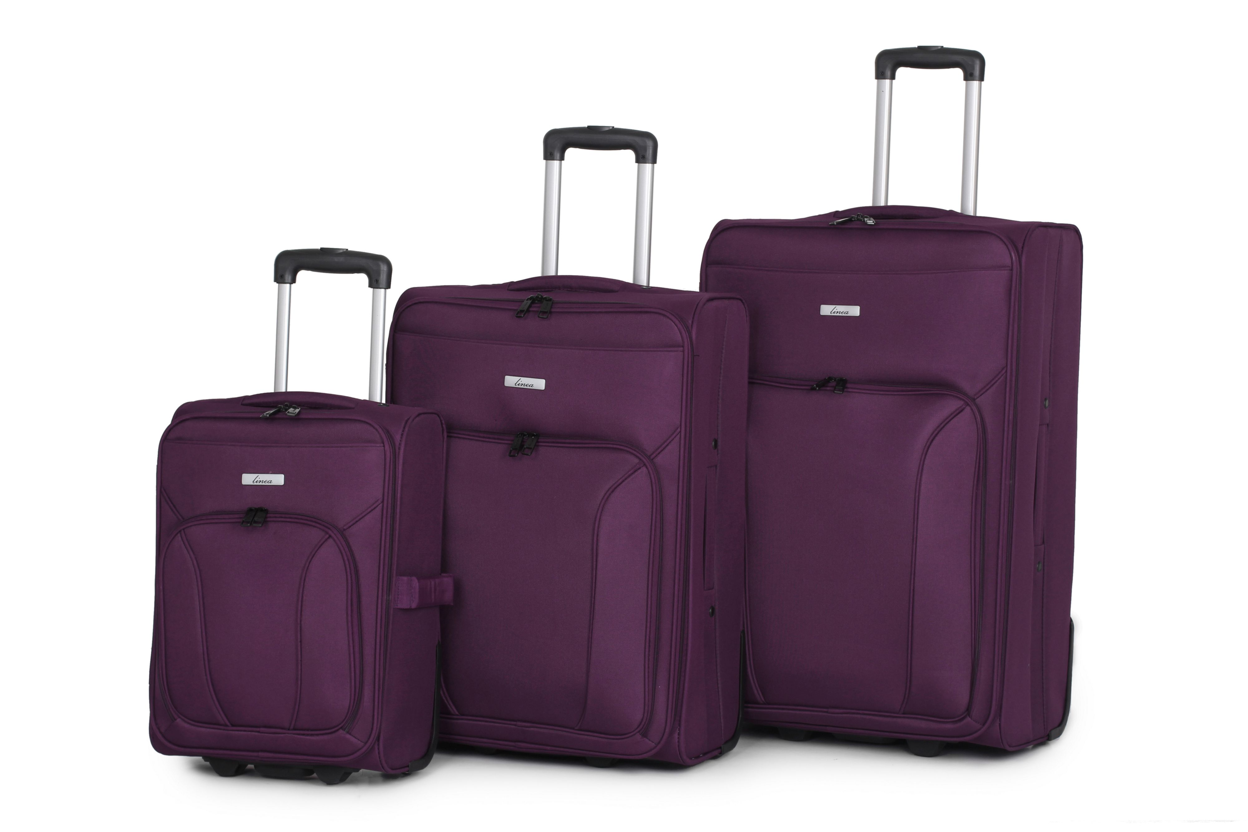 Linea Mila Purple 2 Wheel Soft Large Suitcase - House of Fraser