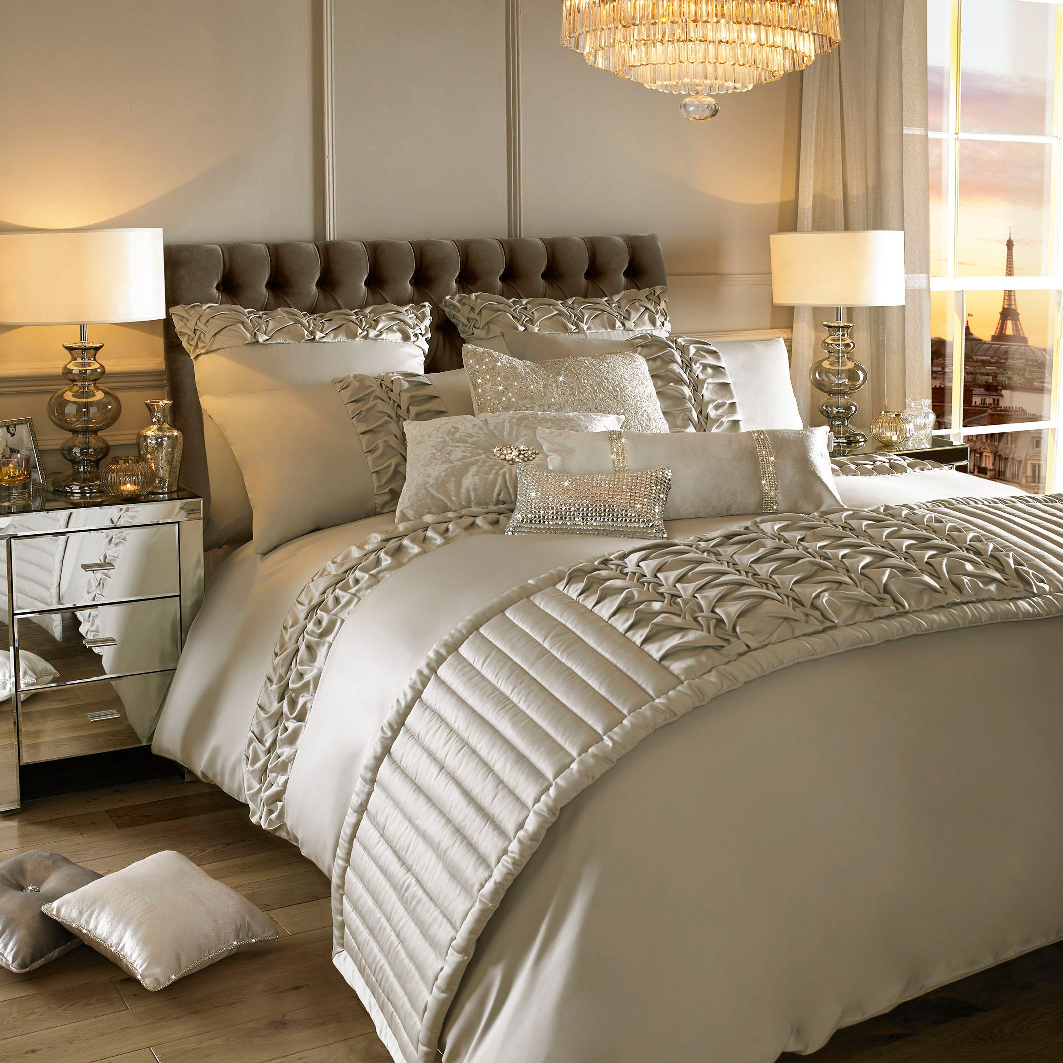 Kylie Minogue Felicity Truffle Super King Duvet Cover House Of Fraser