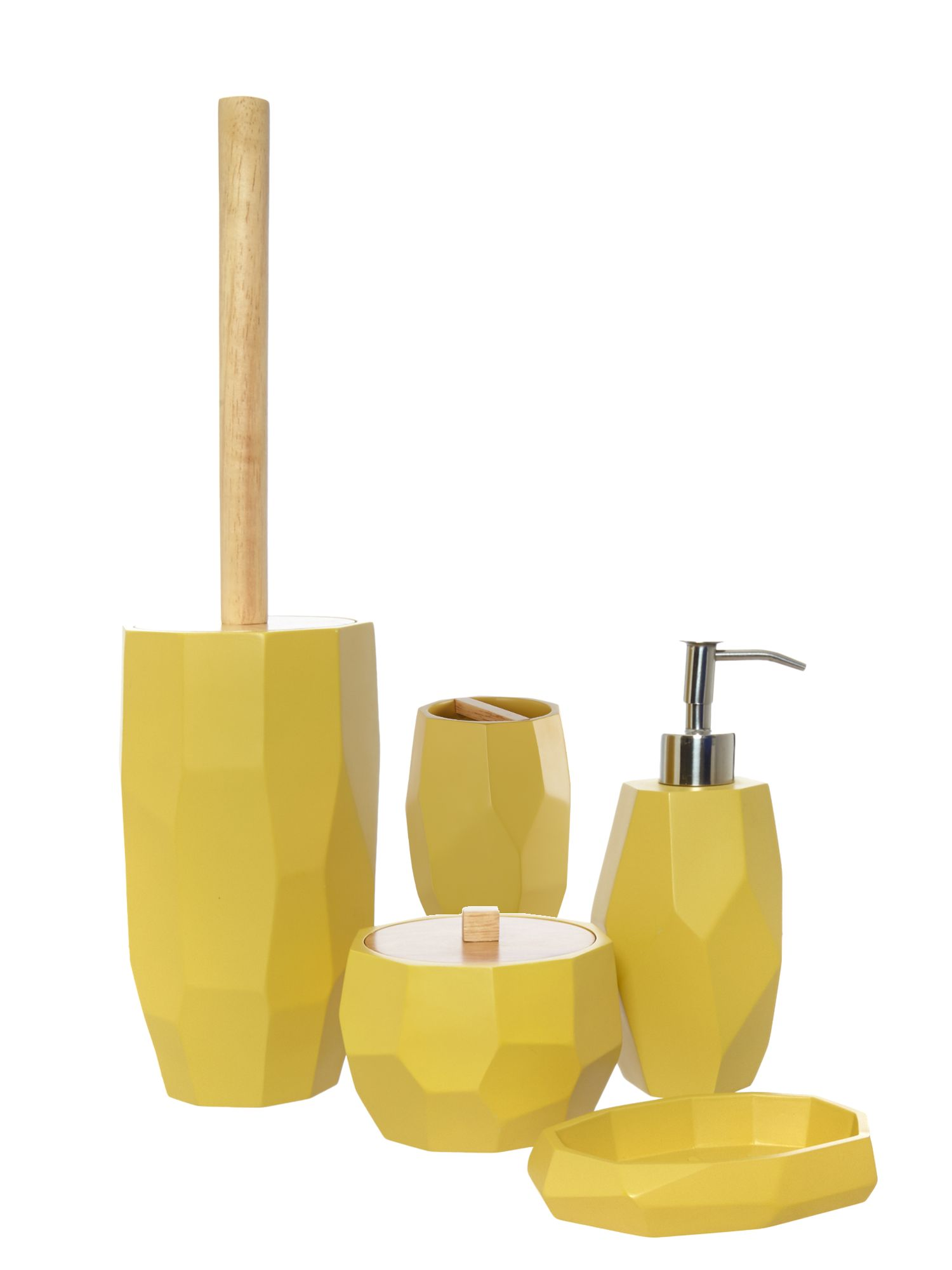 yellow bathroom accessories | my web value