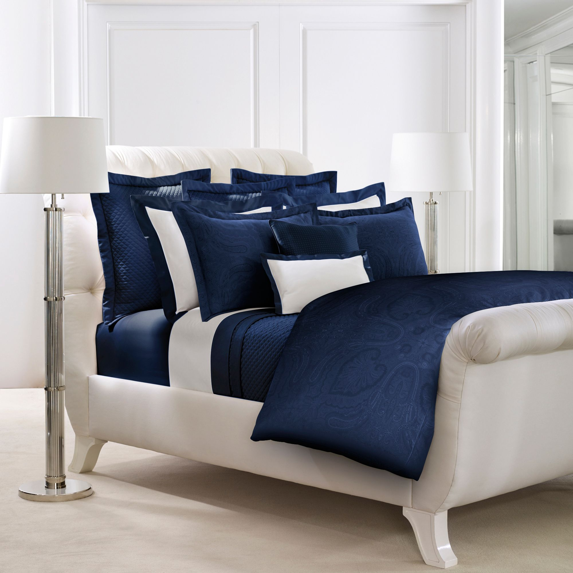Ralph Lauren Home Doncaster Bedding Range In Navy ...