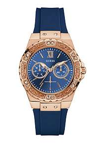 Guess Blue Dial   Silicone Strap Ladies Watch ... 52bbf3c4c4