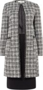 Tahari ASL Plaid Skirt Suit With Chain Trim