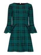 Tahari ASL Bell Sleeve Plaid Jacquard Shift Dress