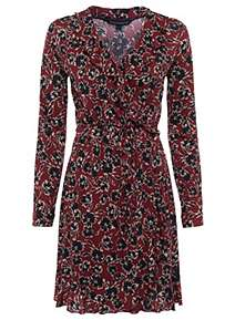 051020083fe French Connection Aubi Meadow Jersey Floral Wrap Dress ...