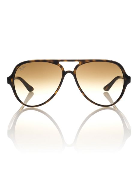 Ray-Ban Unisex Rb4125 Cats 5000 Pilot Sunglasses - House of Fraser
