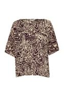 Great Plains Simba Print Slouchy Top