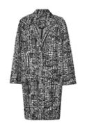City Scribble Coccon Coat