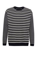 Men's French Connection Superfine Breton Stripe Knit Top