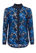 French Connection Musea Lace Mix Classic Shirt