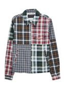 Men's French Connection Laundered Oxford Check Patchwork Jacket