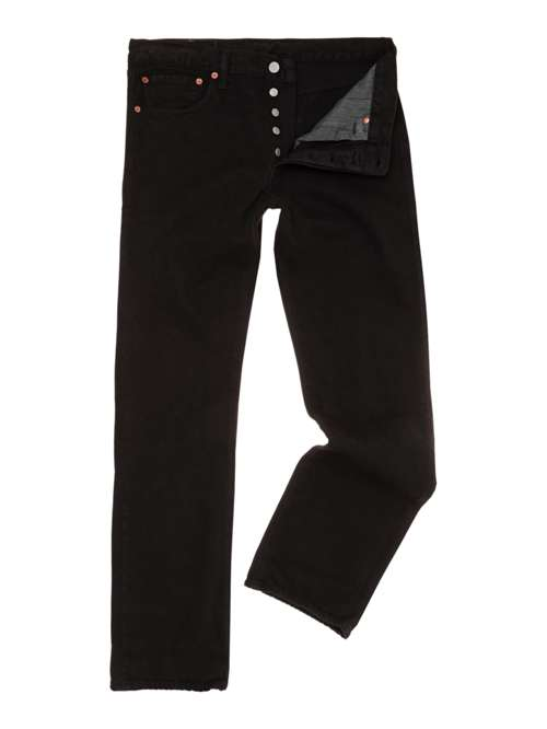 Levi s 501 Black Straight Jeans - House of Fraser 25ecf52db