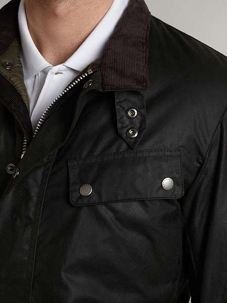 Barbour International Duke Waxed Jacket Rustic