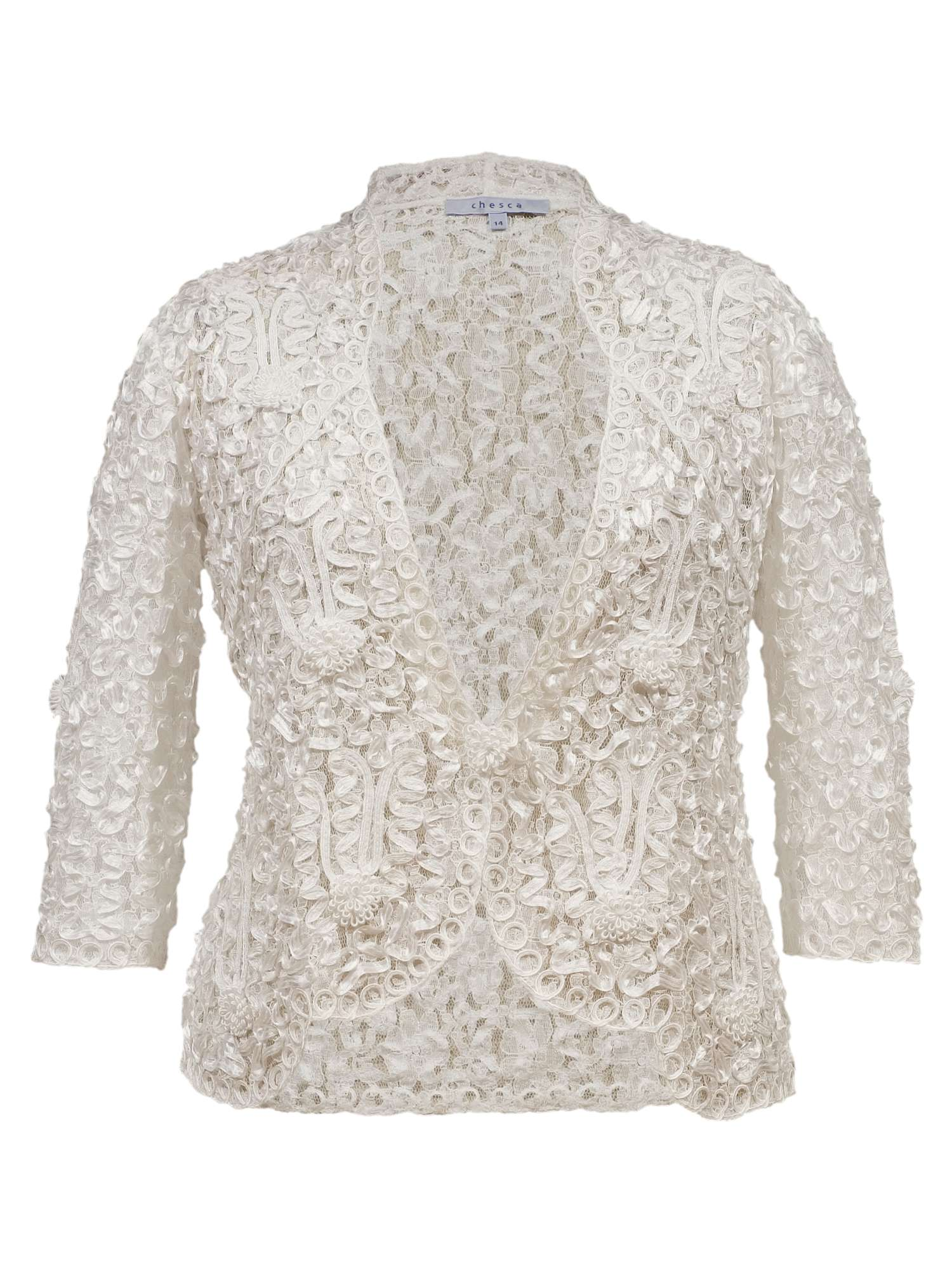 Jacket With Lace Trim Cornelli Chesca Ow85x