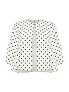 Tahari ASL Polka Dot Print 34 Sleeved Topper