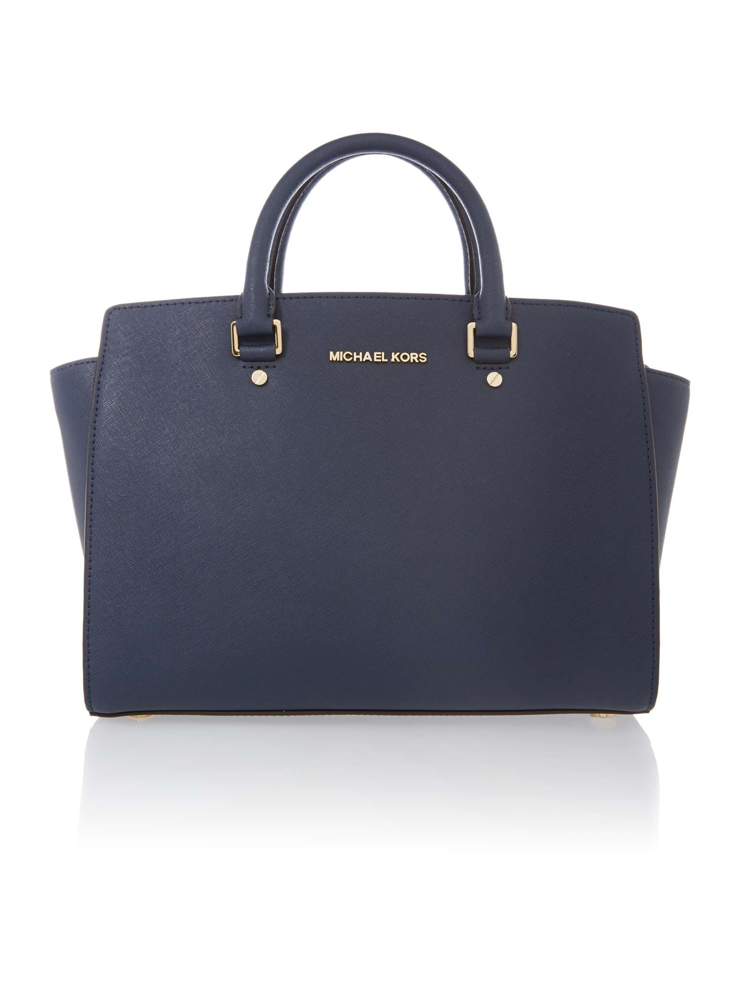 cd0b9be73c53 get michael michael kors leather large ciara satchel in navy dd1f0 d9efe;  sweden michael kors selma navy tote bag cce96 81183