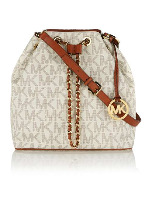 Michael Kors Frankie Neutral Logo Chain Hobo Bag - House of Fraser 9316d89457df8