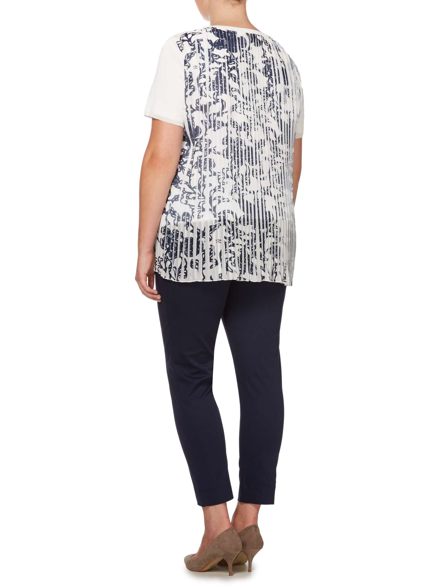 Persona With Tee Knitted Patterned Pleated Back PrzrWFEqZw