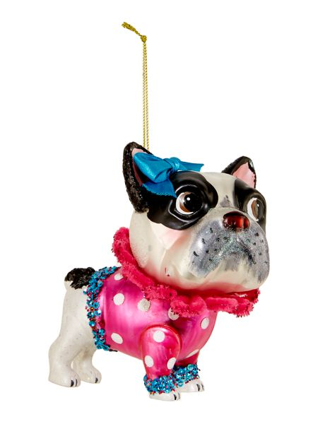 bulldog decorations linea glass french bulldog decoration house of fraser 8135