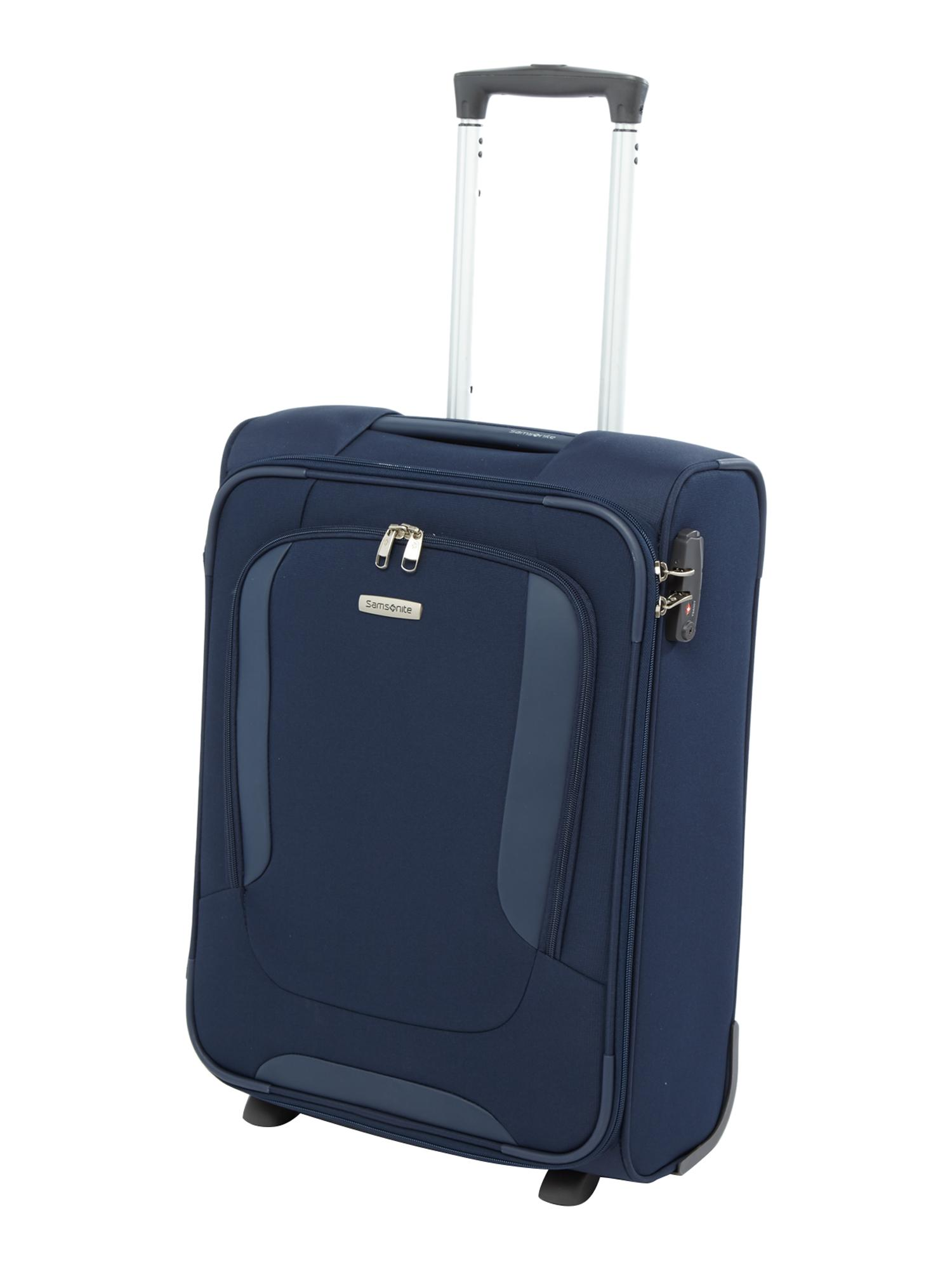 Suitcase With Drawers Samsonite Arnavon Blue 2 Wheel Soft Cabin Suitcase House Of Fraser