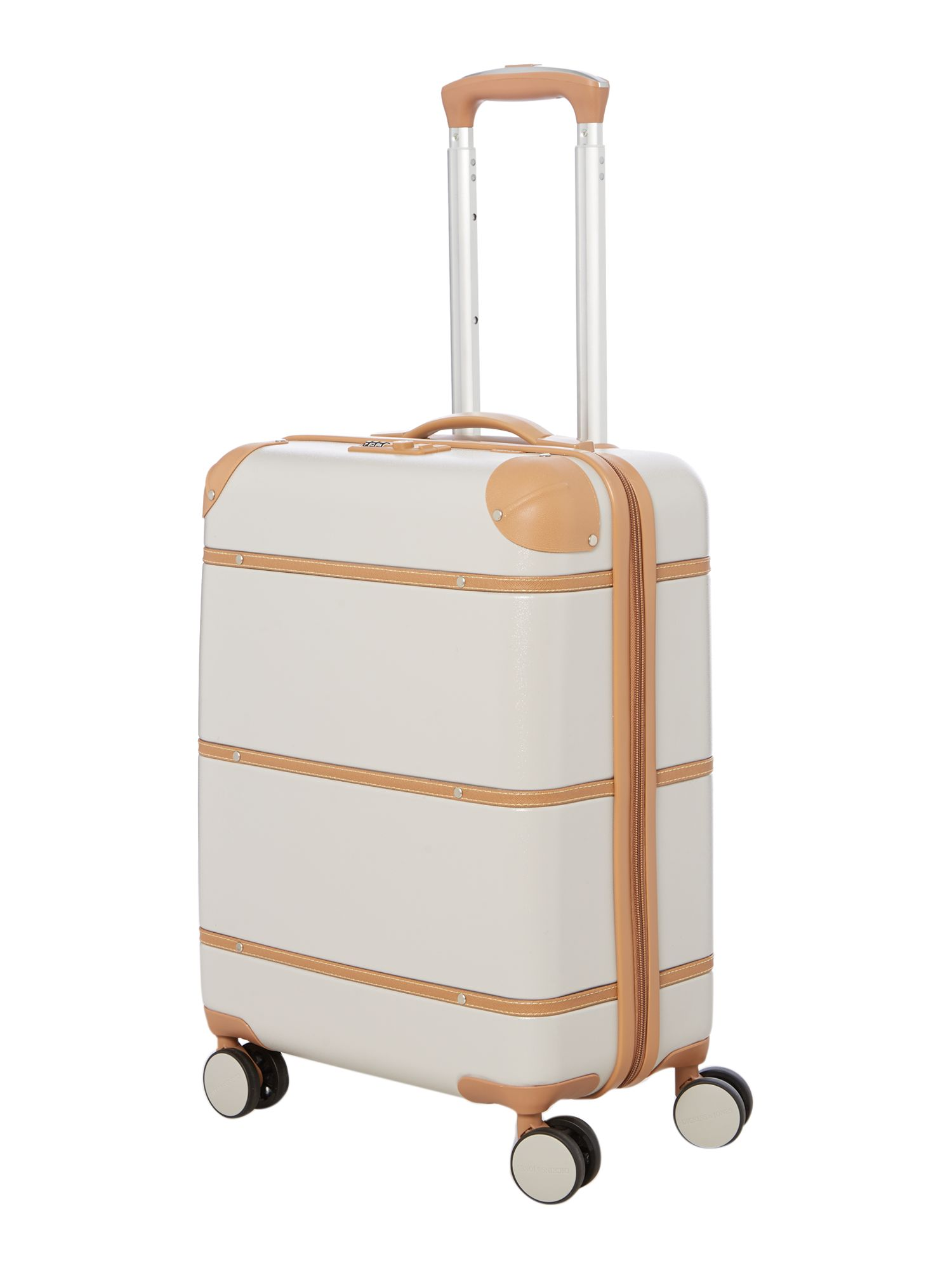 Dickins & Jones Vintage Trunk Cream 8 Wheel Cabin Suitcase - House ...