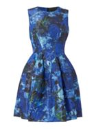 Fit And Flare Dress With Gloss Finished Print