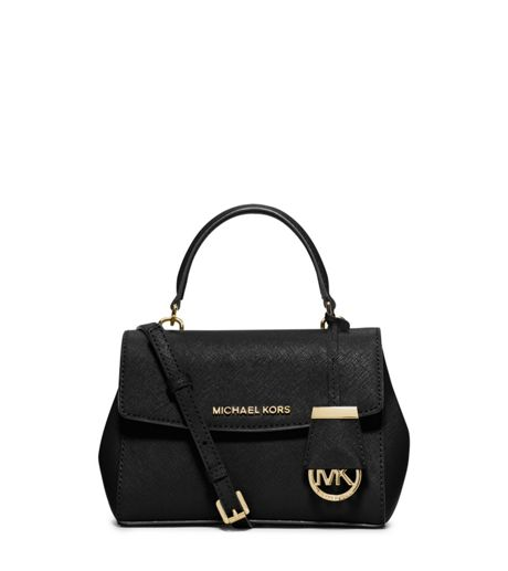 Michael Kors Ava Black Mini Satchel Bag - House of Fraser