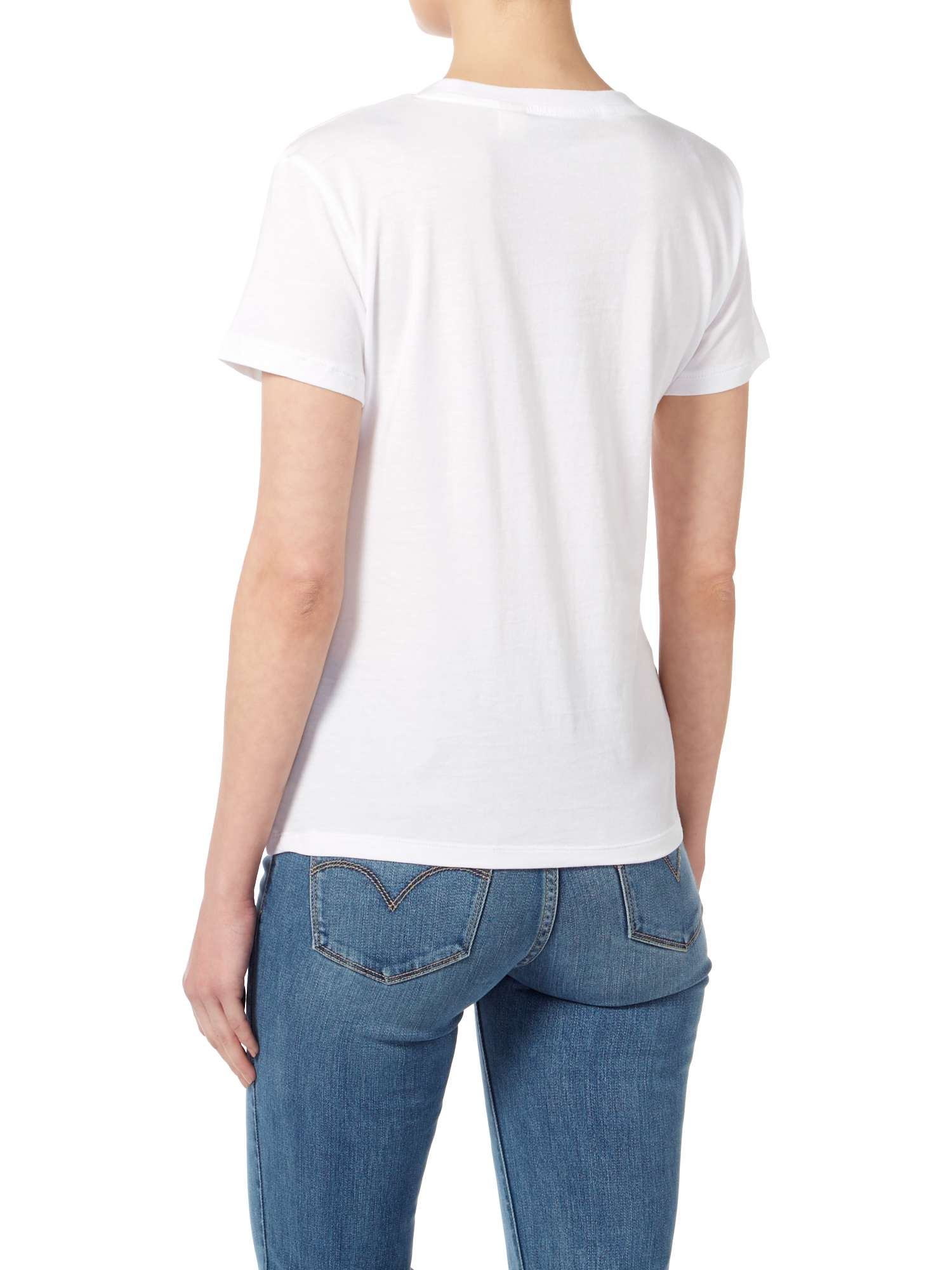 T Sleeve Logo White shirt In Batwing Short Levi's Bright IFqC1wR6q