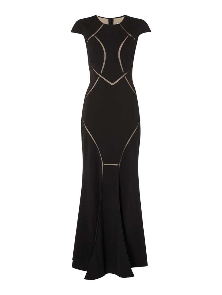 Untold Mesh Cut Out Gown - House of Fraser