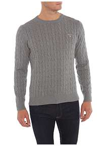 34c1496dd11e GANT Crew Neck Cable Knit Jumper GANT Crew Neck Cable Knit Jumper