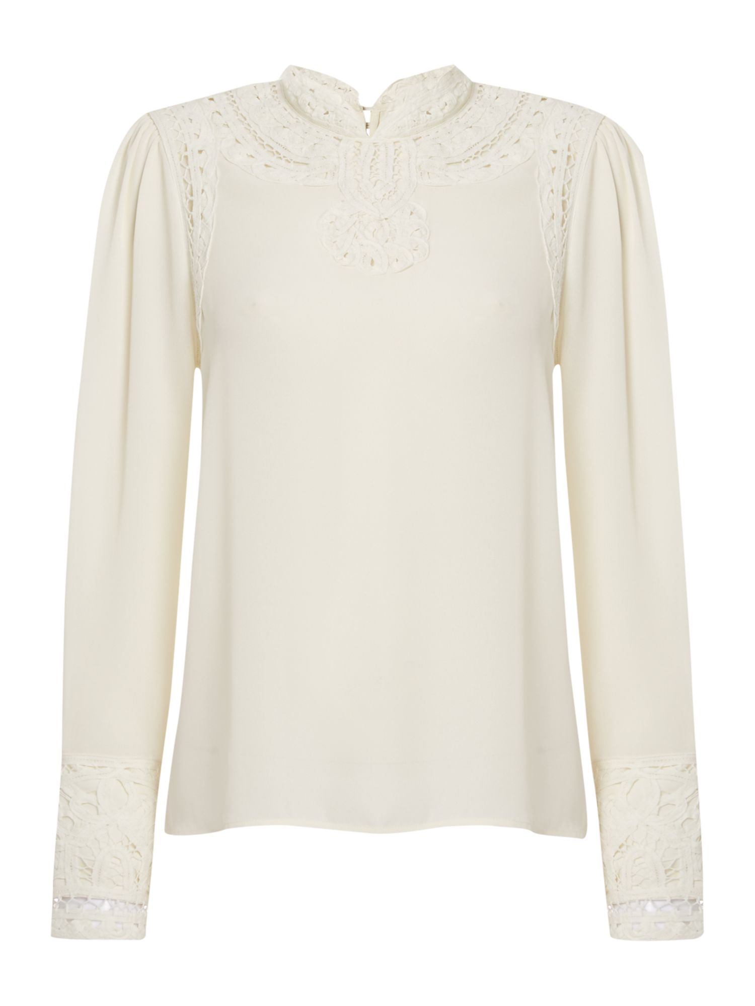 Victorian Style Blouses, Tops, Jackets Biba Lace detail victoriana blouse £39.50 AT vintagedancer.com