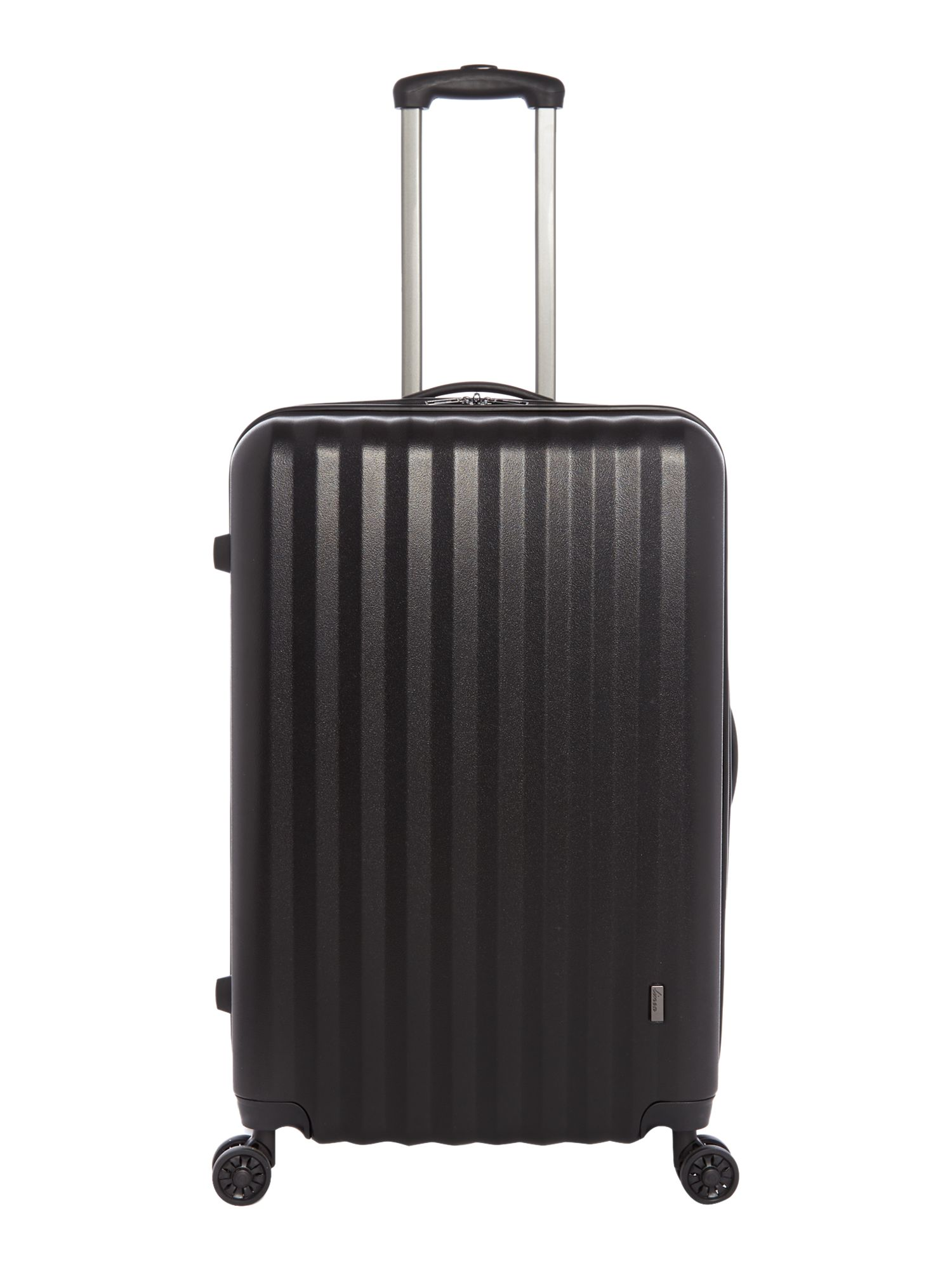 Linea Orba Black Hard 8 Wheel Large Suitcase - House of Fraser