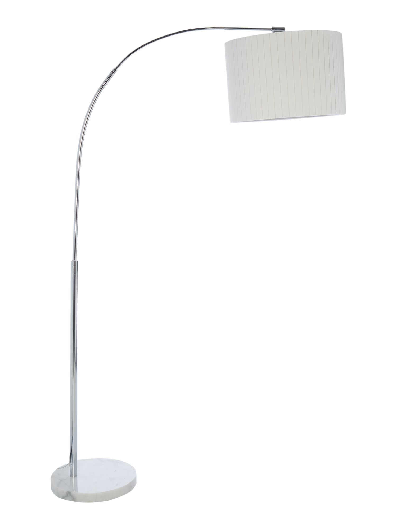 Casa Couture Demi White Marble Arc Floor Lamp - House of Fraser